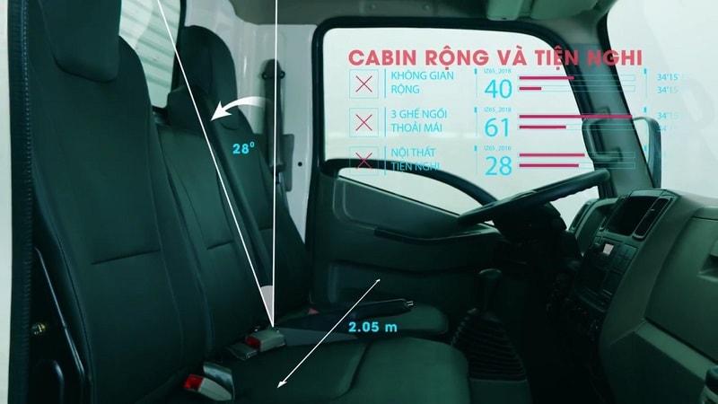 Nội thất xe tải IZ65 rất cao cấp