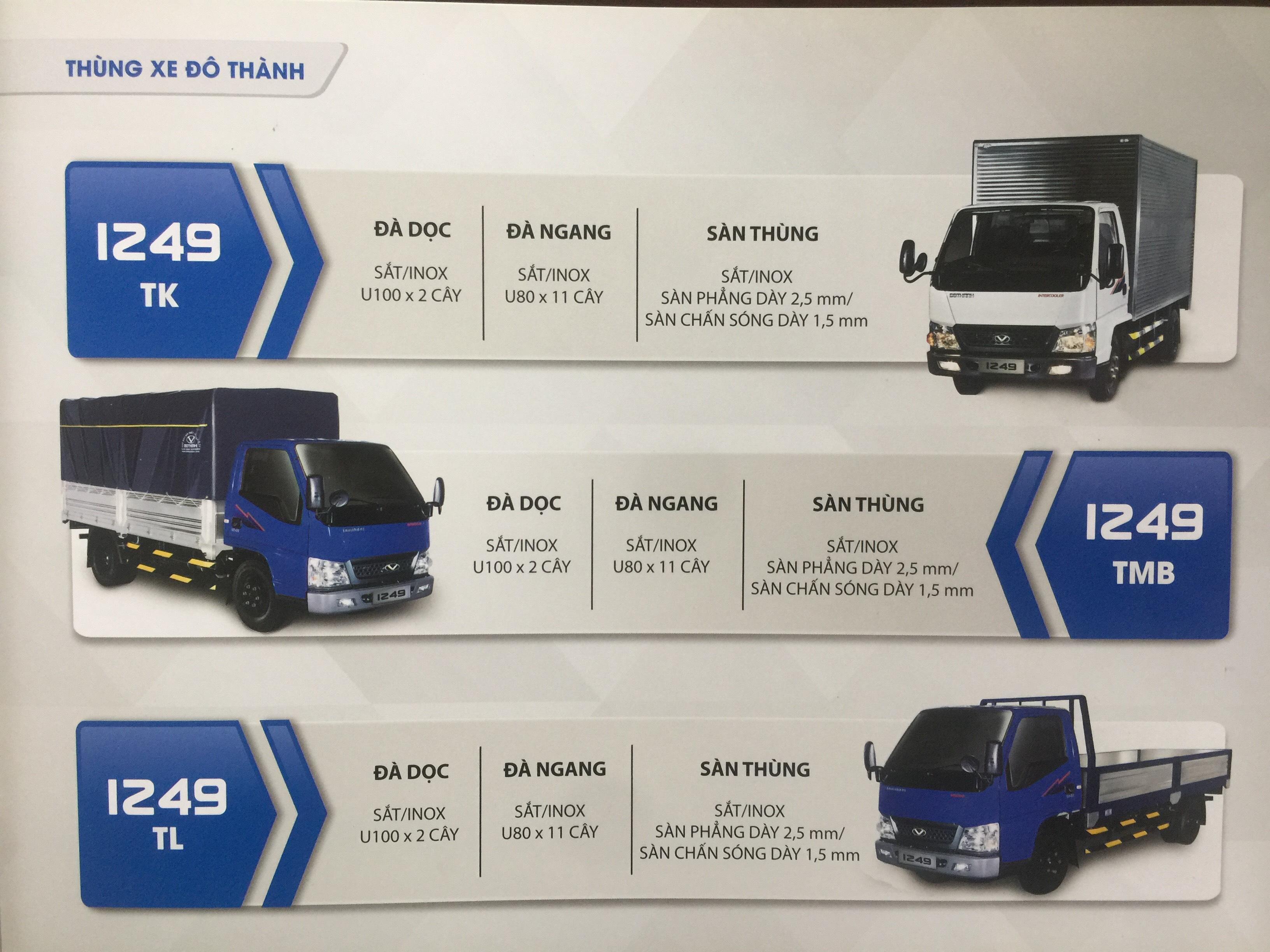 xe iz49 thùng bạt màu xanh
