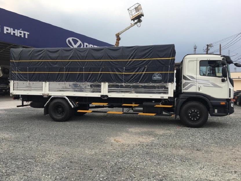 xe daewoo 9 tấn thùng bạt